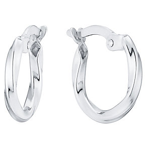 Sterling Silver Twist Creoles - Product number 4488237