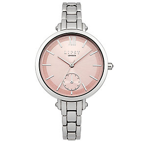 Lipsy Ladies' Pink Dial Stainless Steel Bracelet Watch - Product number 4488318