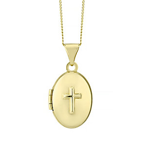 9ct Yellow Gold Cross Locket - Product number 4488369