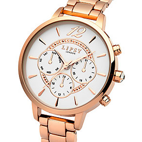 Lipsy Ladies' Rose Gold-Plated Bracelet Watch - Product number 4488385