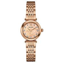 Bulova Ladies' Diamond Set Rose Gold-Plated Bracelet Watch - Product number 4488393