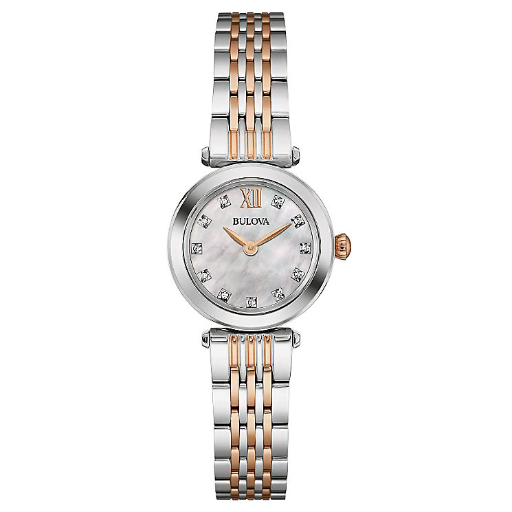 Bulova Ladies' Diamond Set Stainless Steel Bracelet Watch - Product number 4488415