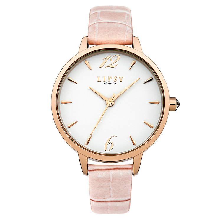 Lipsy Ladies' White Dial Pink PU Strap Watch - Product number 4488466
