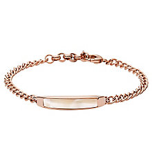 Fossil Rose Gold-Plated Stainless Steel Bracelet - Product number 4489039