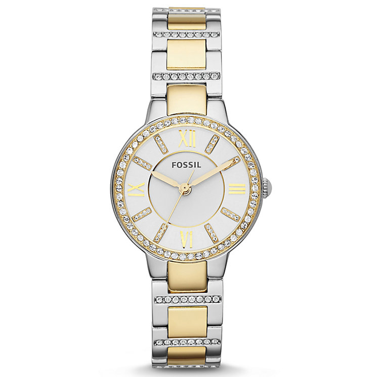 Fossil Ladies' Two Colour Stainless Steel Bracelet Watch - Product number 4489292