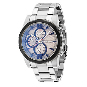 Police Men's Grey Multi Dial Stainless Steel Bracelet Watch - Product number 4489896