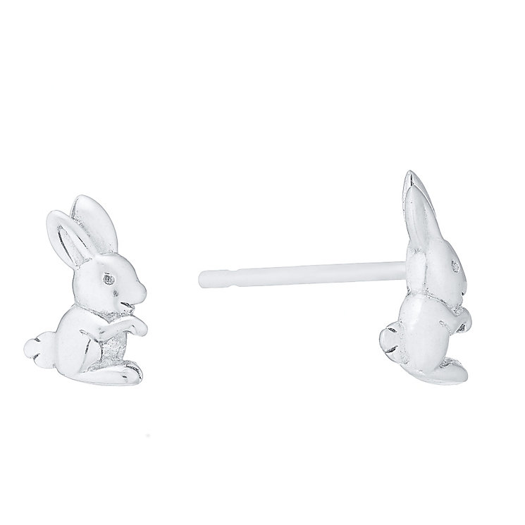 Sterling Silver Rabbit Stud Earrings - Product number 4489926