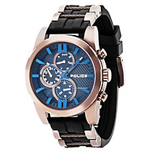 Police Men's Black Multi Dial Black Plastic Strap Watch - Product number 4489934