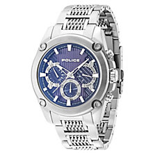 Police Men's Blue Multi Dial Stainless Steel Bracelet Watch - Product number 4489942