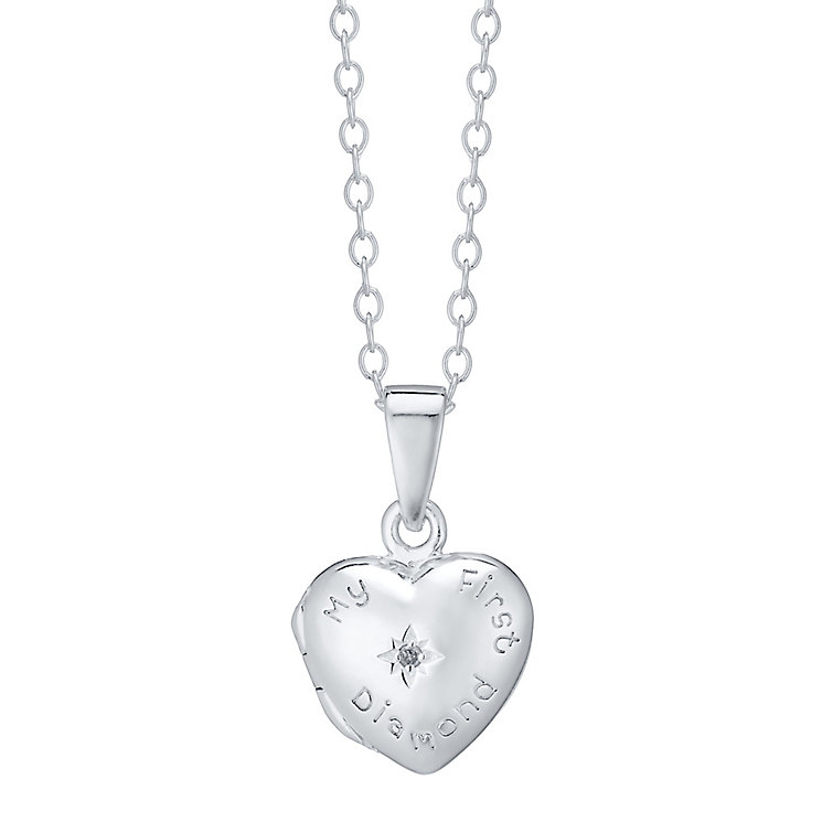 Kids Sterling Silver My First Diamond Locket - Product number 4490045