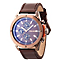 Police Men's Brown Multi Dial Brown Leather Strap Watch - Product number 4490096