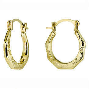 9ct Gold Creole Earrings - Product number 4490142