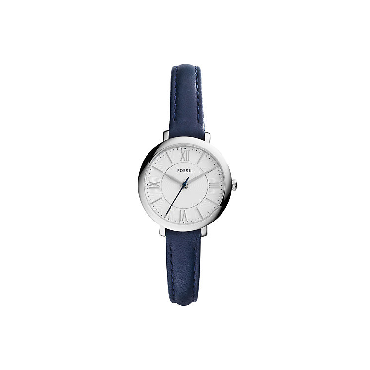 Fossil Ladies' Stainless Steel Blue Leather Strap Watch - Product number 4490193