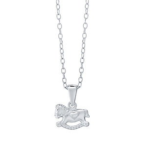 Children's Sterling Silver Plain Rocking Horse Pendant - Product number 4490207