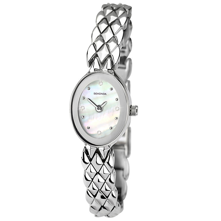 Sekonda Ladies' Stone Set Stainless Steel Bracelet Watch - Product number 4492331