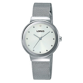 Lorus Women's White Dial Mesh Strap Bracelet Watch - Product number 4493567