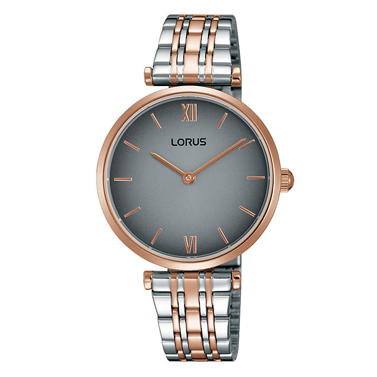 Lorus Women's Two Tone Grey Dial Bracelet Watch - Product number 4493605