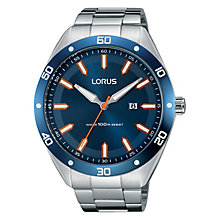 Lorus Men's Stainless Steel Blue Dial Bracelet Watch - Product number 4493699