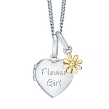 Tiny Treasures Sterling Silver Flower Girl Locket - Product number 4493745