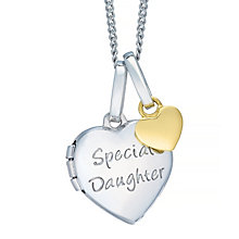 Tiny Treasures Sterling Silver Special Daughter Locket - Product number 4493753