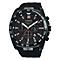 Lorus Men's Silocone Strap Black Dial Watch - Product number 4493788