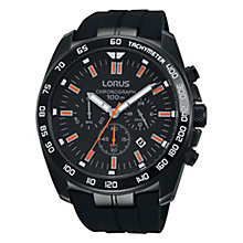 Lorus Men's Silocone Strap Black Dial Watch - Product number 4493788