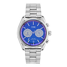 Storm Men's Round Blue Dial Stainless Steel Bracelet Watch - Product number 4493869