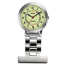 Lorus Women's Stainless Steel Nurse Fob Watch - Product number 4494067