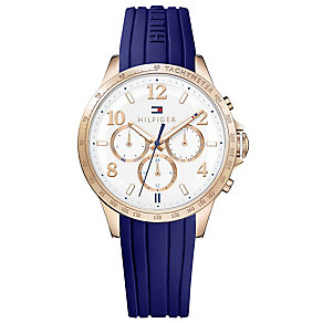 Tommy Hilfiger Men's Blue Rubber Strap Watch - Product number 4494806