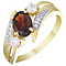 9ct Gold Garnet & Cubic Zirconia Stacker Look Ring - Product number 4494849