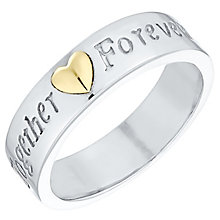 Sterling Silver & 9ct Gold 'Together Forever' Ring - Product number 4495365