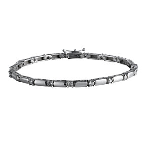 9ct white gold one carat diamond bar bracelet - Product number 4495837
