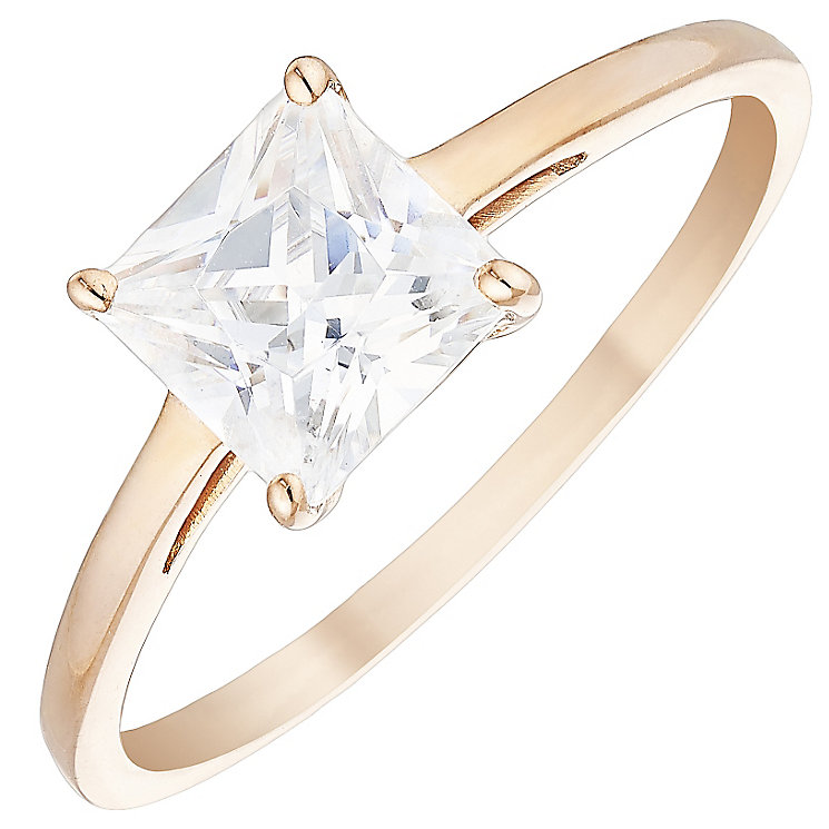 9ct Rose Gold Sqaure Cut Ring - Product number 4496442