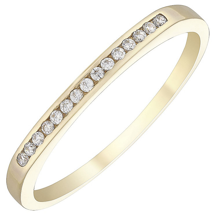 9ct Yellow Gold Cubic Zirconia Ring - Product number 4498089