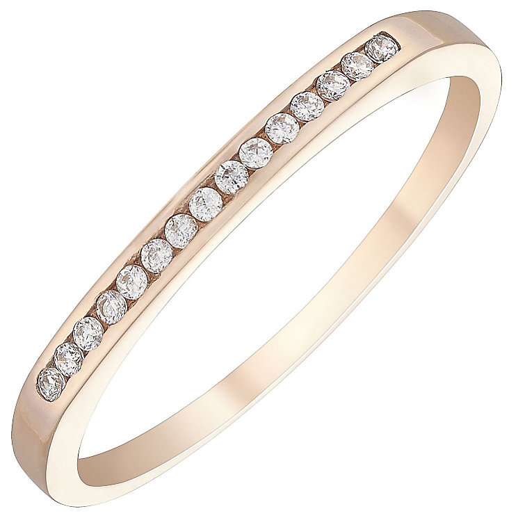 9ct Rose Gold Cubic Zirconia Ring - Product number 4499263