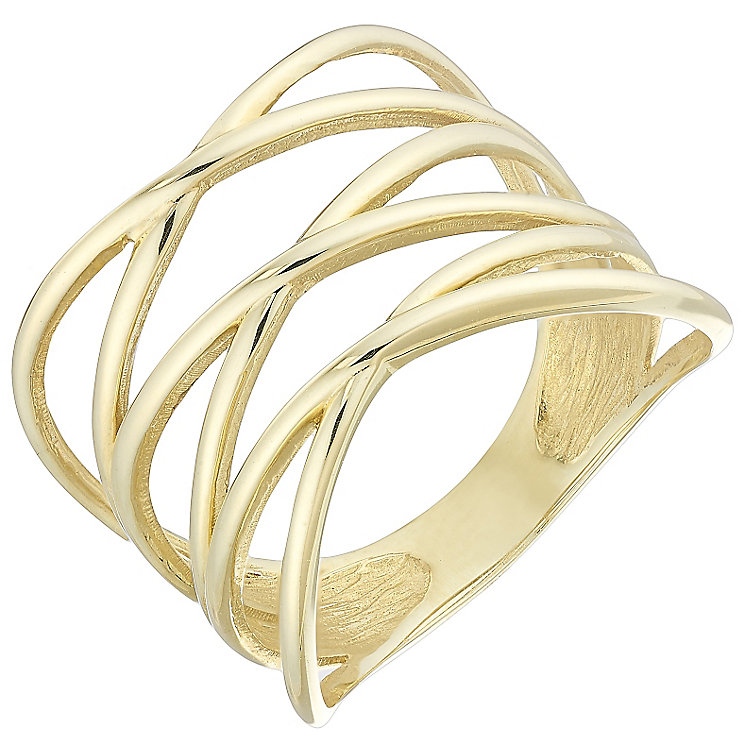 9ct Yellow Gold Triple X Ring - Product number 4499859