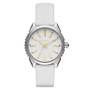 Diesel Ladies Nuki White Dial & Leather Strap Watch - Product number 4500725