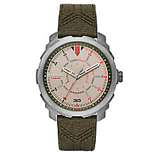 Diesel Mens Machinus Nsbb Champagne Dial Green  Strap Watch - Product number 4500806