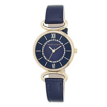Anne Klein Ladies' Stone Set Blue Leather Strap Watch - Product number 4500857