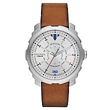 Diesel Mens Machinus Nsbb Silver Dial Brown Strap Watch - Product number 4500865