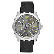 Diesel Mens Machinus Nsbb Gunmetal Dial Black Strap Watch - Product number 4500873