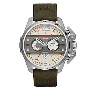 Diesel Ironside Men's Green Canvas Strap Watch - Product number 4500903