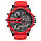 Diesel Mens Mr Daddy Gunmetal Dial Silicone Bracelet Watch - Product number 4500911