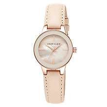 Anne Klein Ladies' Blush Pink Leather Strap Watch - Product number 4500954