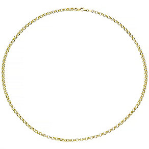 9ct Gold Hollow Round Belcher Chain Necklace - Product number 4502922