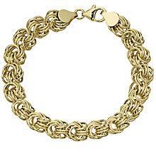 9ct Gold Flower Knot Bracelet - Product number 4502930