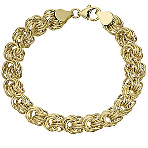 9ct Gold Flower Knot Bracelet - Product number 4502930