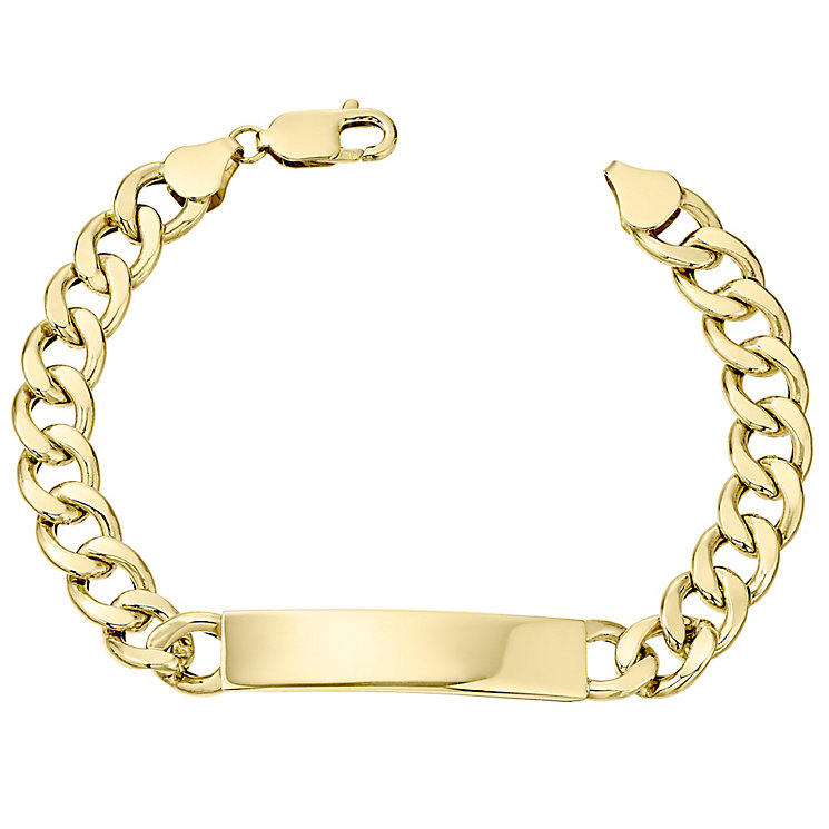 9ct Gold Hollow ID Curb Bracelet - Product number 4502957