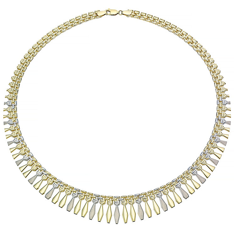 "9ct Two Tone 16.5"" Necklace - Product number 4503058"
