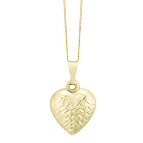 9ct Yellow Gold Heart Pendant - Product number 4505964